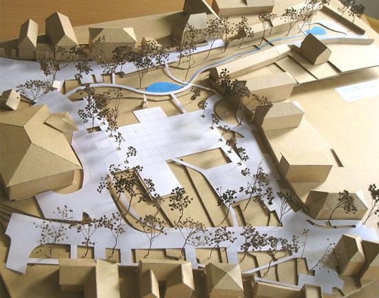 Foto modelu revitalizace náměstí